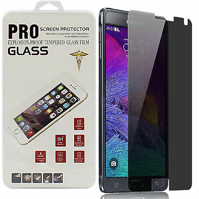 For Samsung Galaxy S5 S6 Note 4 Privacy Anti-spy Tempered Glass Screen Protector