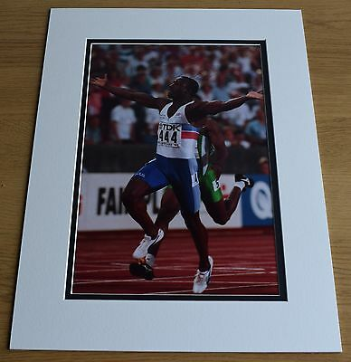 Linford Christie SIGNED autograph 16x12 LARGE photo display Olympics AFTAL & COA