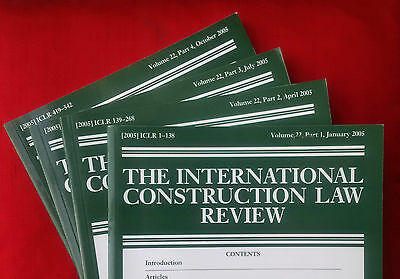 International Construction Law Review, vol. 22 (2005) complete volume