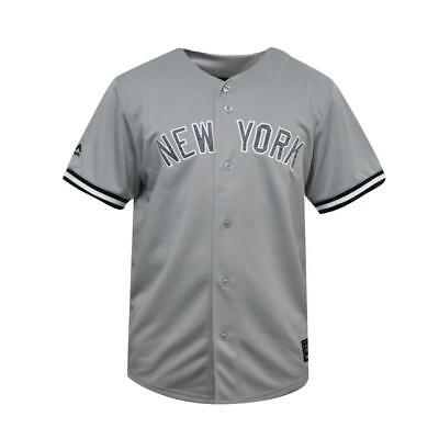 NEW New York Yankees Replica Road MLB Baseball Jersey by Majestic Athletic