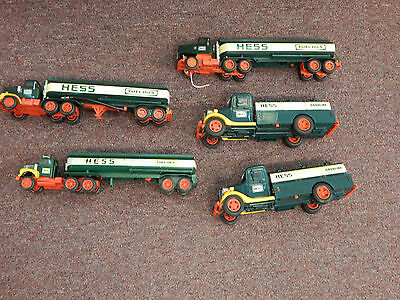 Vintage Lot Of 1970's - 1980's Hess Trucks Sold As Is
