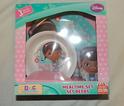 NEW Baby, Toddler, Kid, Doc McStuffins Dish Set, Plate Bowl Cup, Feeding Disney