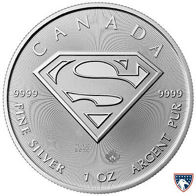 2016 Canadian Superman S-Shield Man Of Steel 1 oz .9999 Silver Coin - SKU 0117