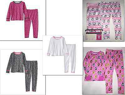 Cuddl Duds Toddler Girls 2-Pc Comfortech Poly Long Underwear Set