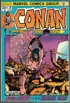 CONAN THE BARBARIAN 19  NM-/9.2  -  Barry Windsor Smith Cover! White Pages!