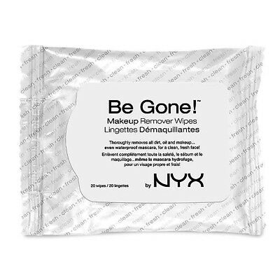 Nyx Cosmetics Be Gone Makeup Remover Cleansing Wipes Bgmw01 20 Sheets