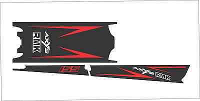 POLARIS AXYS TUNNEL SKS decal GRAPHICS 800 600 PRO RMK 155 163 red axys black
