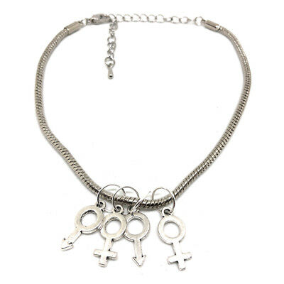 MFMF Silver Anklet Swinger Lifestyle Jewelry Hotwife Queen of Spades BBC Fetish