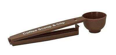 New~Evriholder Coffee Scoop And Clip, Brown