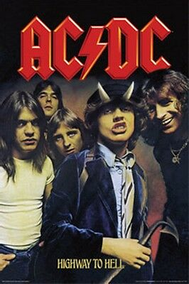 AC/DC Highway To Hell Vertical Music Poster Print AC DC Angus Young New 24x36