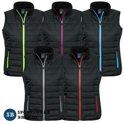 Ladies Stealth Vest Quilted Lightweight Warm Contrast Work Casual Sports J616L