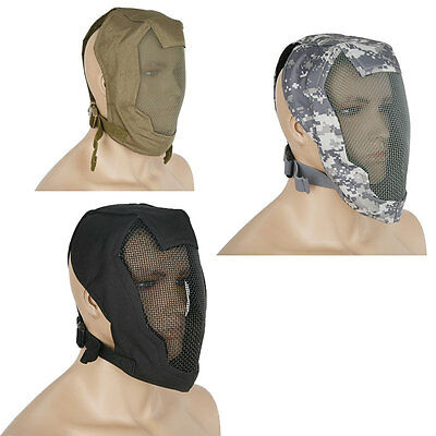 Sword Fighting Head Guard Mesh Fencing Full Face Safety Mask Airsoft Paintball