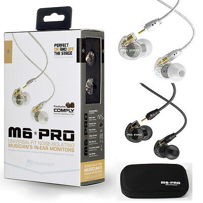 MEE Audio M6 PRO Noise-Isolating Hifi In-Ear Monitors with Detachable Cables