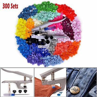 Snap Pliers 300 Set T5 Plastic Resin Press Stud Button Fastener Cloth Diaper New