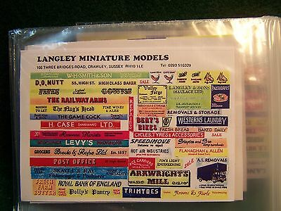N Scale  Shop Signs (30+ Large) Decals