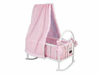 Valco Baby Just Like Mum Doll Cradle/Rocker/Cot Toy/Play/Kids/Children Pink