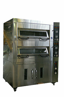 Carlyle Ultima Electric Deck 2 Tray 2 Deck Oven with Live Steam & Tiles