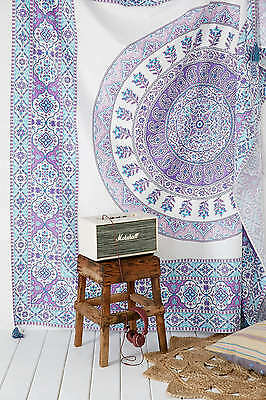 Queen Indian Hippie Decor Mandala Tapestry Wall Hanging Throw Bohemian Bedspread