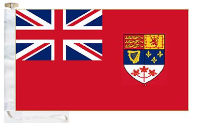 Canada Civil Red Ensign Courtesy Boat Flag (Roped & Toggled)