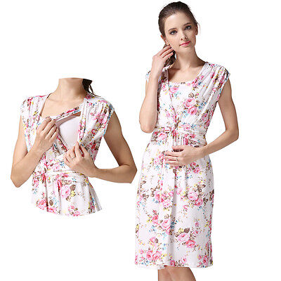 Maternity Dress Breastfeeding Dresses Nursing Dress Floral Women's Clothes