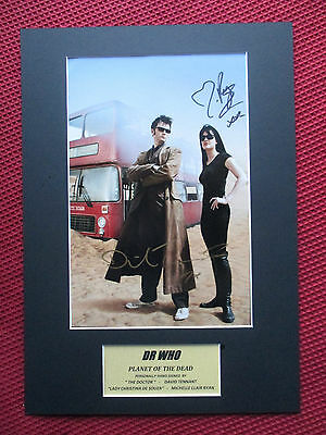 Doctor Who David Tennant & Michelle Ryan Hand Signed A3 Photo Mount Display- Coa