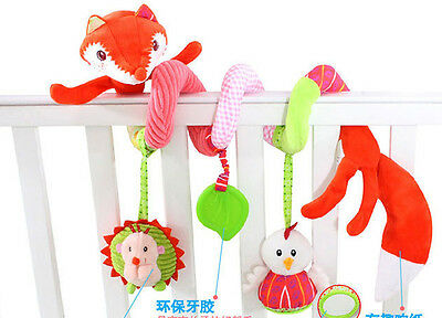 1pc fox Baby infant  activity spiral toy cot bed pram hanging developmental toy