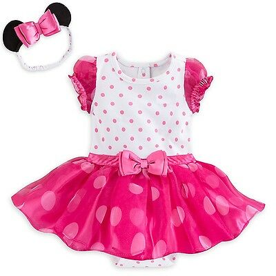 42a5a5aff48 Disney Store Deluxe Minnie Mouse Baby Costume   Headband Size 3 6 9 12 18  Months