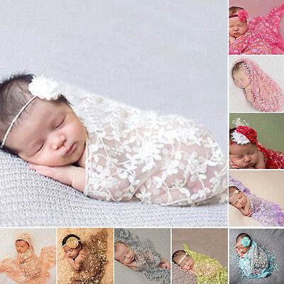 Newborn Infant Baby Kid Lace Maternity Props Scarf Photo Props Photography Quilt