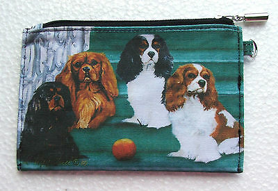 Cavalier King Charles Zippered Pouch Dog Breed Ruth Maystead Coin Purse Make up