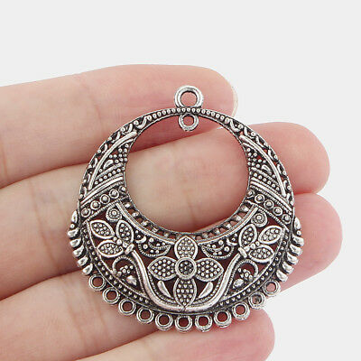 6 x Large Tibetan Silver Chandelier Earring Connectors Link Charms Pendants 43mm