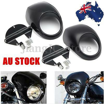 Front Headlight Fairing Mask Cowl For Harley Sportster Dyna FX XL 883 1200 AU