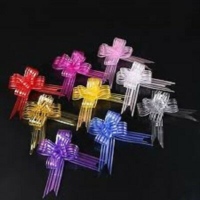 Large 30mm Organza Pull Bows various Colours - 1,5,10 pack options