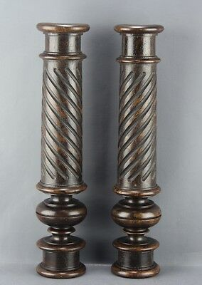 Antique Pair Of Balusters Columns Renaissance Style
