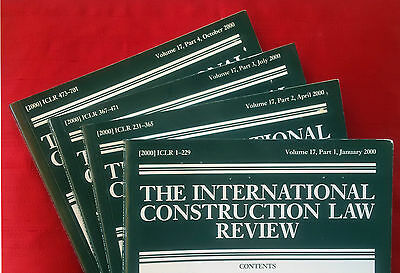 International Construction Law Review, vol. 17 (2000) complete volume