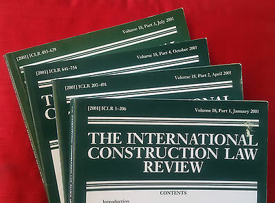 International Construction Law Review, vol. 18 (2001) complete volume