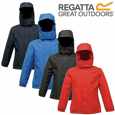 Regatta Kids Squad Boys Girls Waterproof Fleece Lined School Jacket Hooded Coat