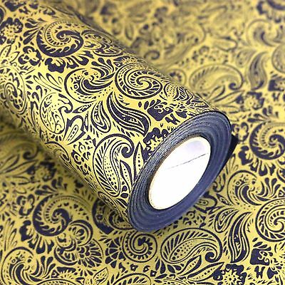 "Roll Gift Wrapping Paper 1Roll :  Paisley Blue 20.8"" X (L) 32.8ft"""