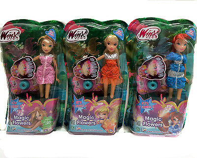 Set 3  Winx club Magic Flower Dolls Flora doll Stella Doll Bloom Doll GPH01021