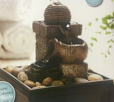 Essence Stone Effect Water Fountain Light Up Tranquil Sound