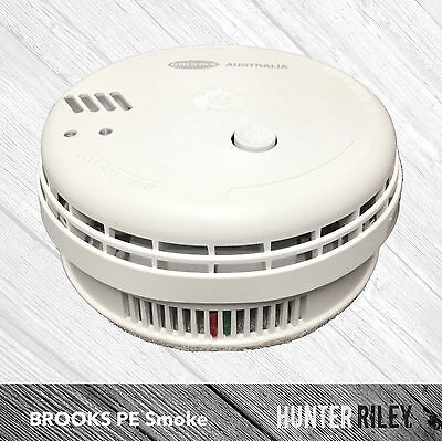 BROOKS Photoelectric Smoke Alarm | Compliant 12V Hardwired Fire Detector