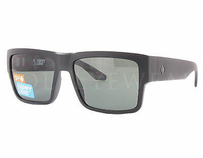 NEW SPY Cyrus Matte Black / Happy Gray Green Sunglasses