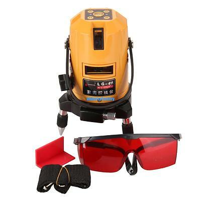 Shockproof 5 Line 6 Point Auto Self Leveling Rotary Laser Level Meter Kit Red