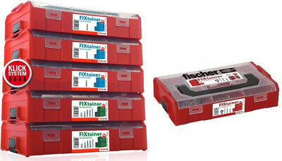 Fischer Wall Plugs (210pcs)   in FIXTAINER   Stackable   Multi Box Systainer