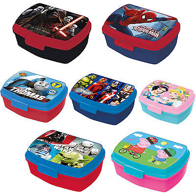 Disney & Kids Character Sandwich Box with Tray Brand New Gift