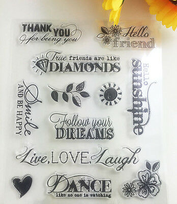 1 Sheet Silicone Clear Transparent Stamp Seal Dream&Friend Scrapbooking Album