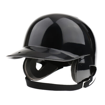 Batting Helmet NOCSAE Cert. Pro Baseball/Softball Helmet Double Flap - Black