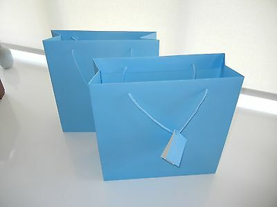 Baby Blue Large Gift Bags for any occasion, in pack of 6