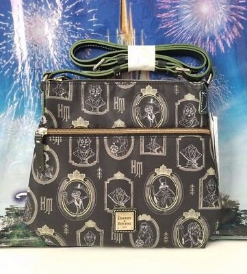 NWT Disney The Haunted Mansion Portraits Nylon Crossbody Bag by Dooney & Bourke