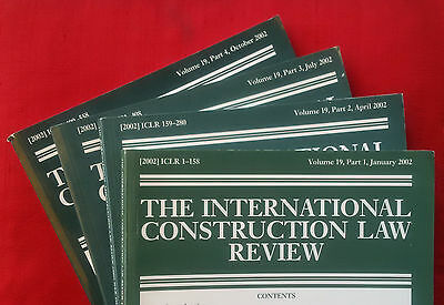 International Construction Law Review, vol. 19 (2002) complete volume