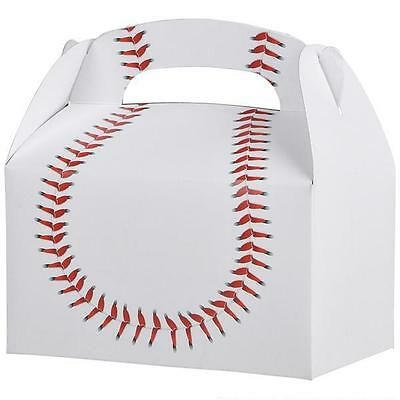 24 BASEBALL TREAT BOXES Birthday Loot Goody Prize Gift Bag #ST31 FREE SHIPPING